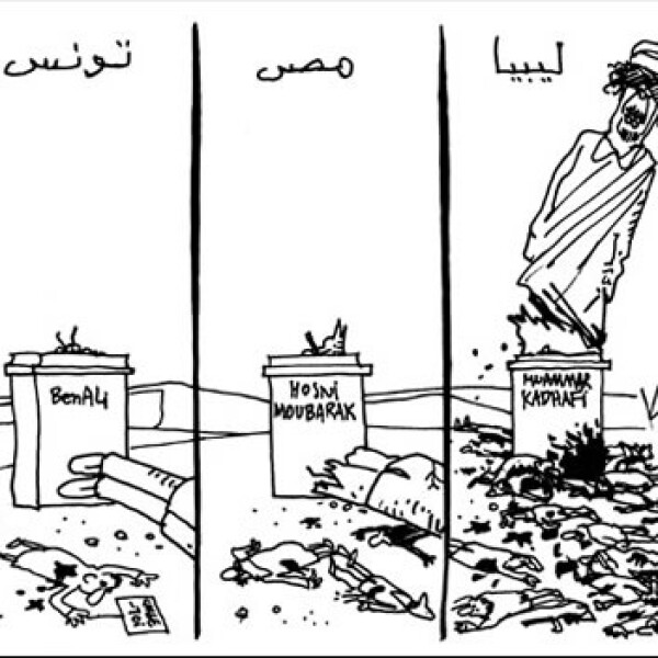 Gadhafi - caricatura - Pierre Kroll