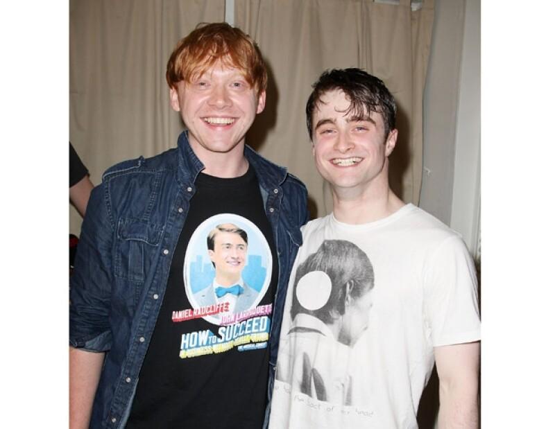 Los actores británicos interpretaron a dos grandes amigos en las películas de Harry Potter.