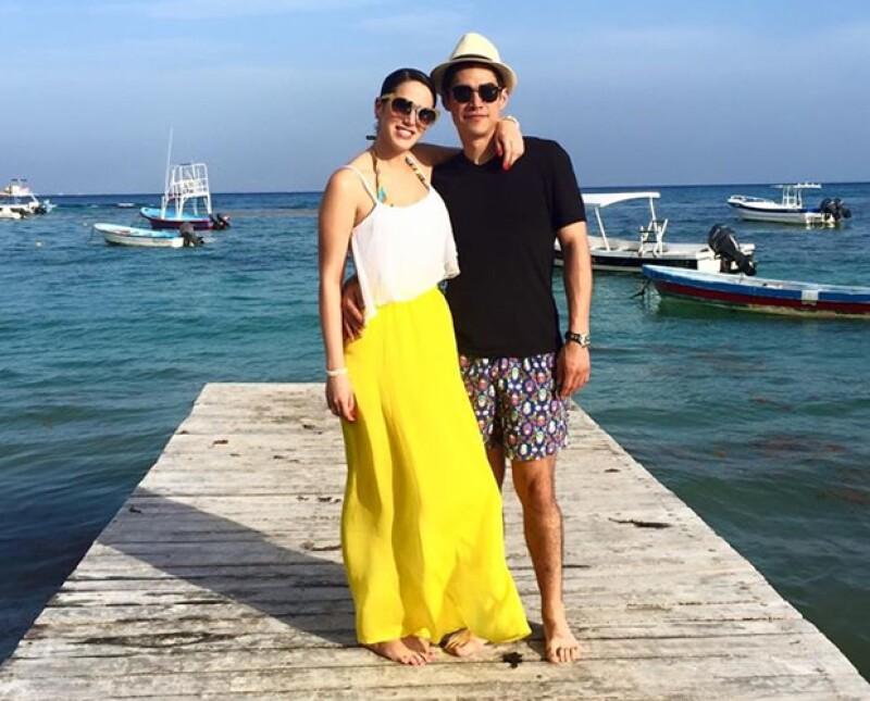 Ana Victoria González y su novio Gerardo Garza