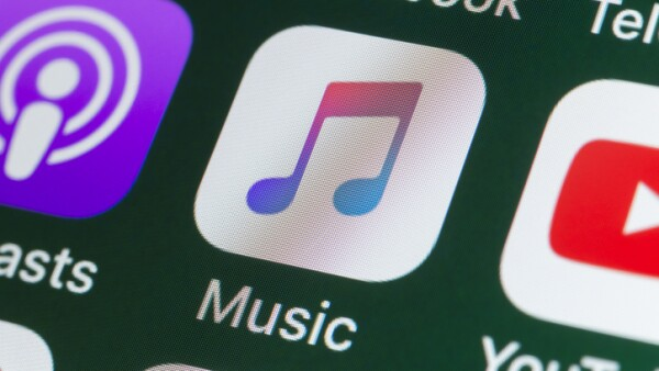 Apple Music, Podcasts, YouTube and other Apps on iPhone screen