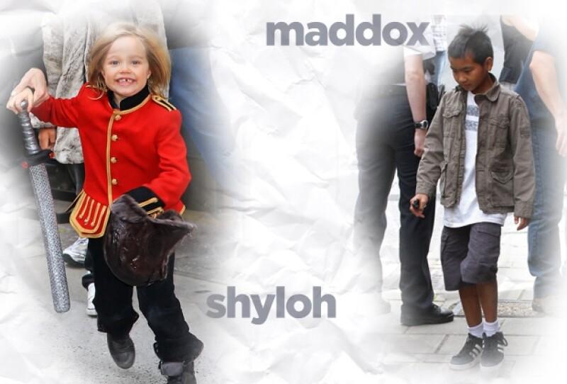 Los niños Jolie-Pitt tienen un estilo propio.