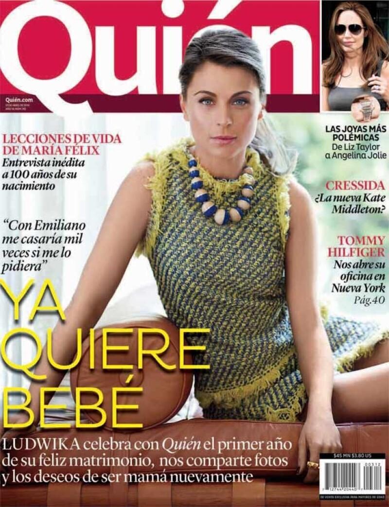 Ludwika Paleta celebra con Quién su primer año de casada con Emiliano Salinas.