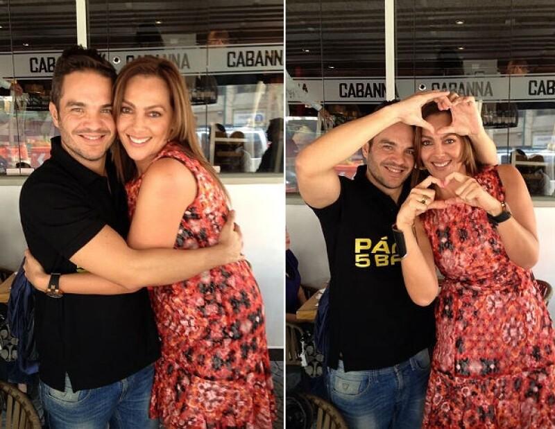 """Kuno Becker demuestra que se lleva muy bien con su """"cuñada"""" Verónica del Castillo."""