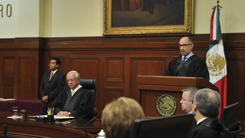 Los ministros de la Suprema Corte de Justicia de la Nación durante una sesión solemne