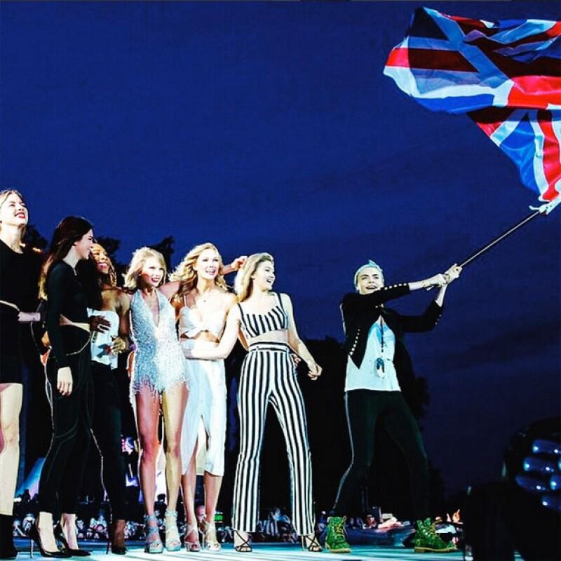 El girl squad en el concierto de Taylor Swift.