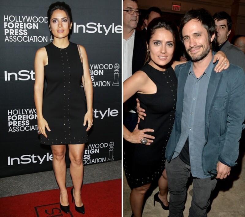 La actriz optó por este sexy vestido negro. En su asistencia a un evento de la revista InStyle se encontró con su compatriota, Gael.