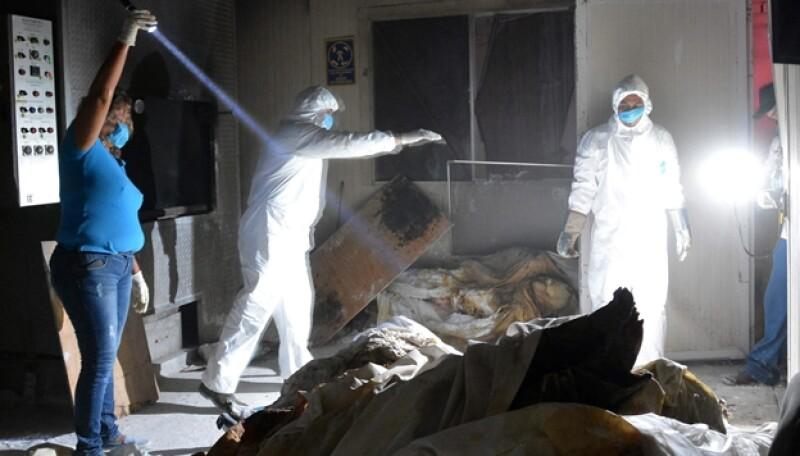 Guerrero cadáveres crematorios
