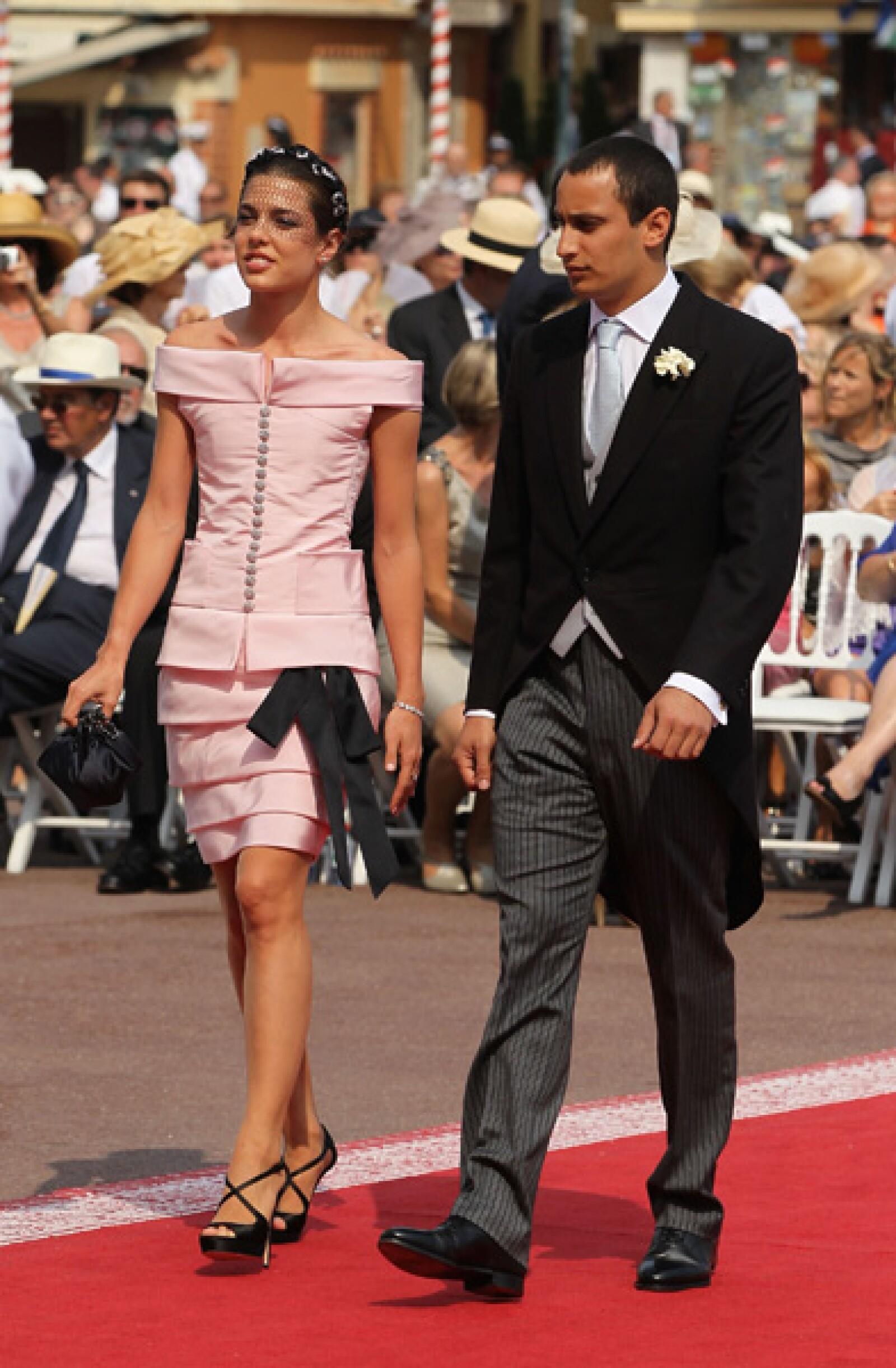 Carlota Casiraghi y su novio Alex Dellal.