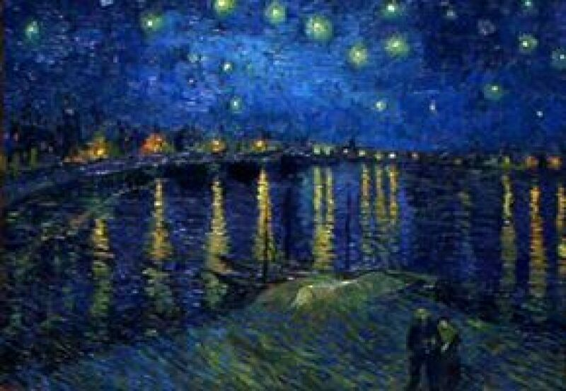 "La exhibición ""Van Gogh and the colors of the night"" se presenta temporalmente en NY."