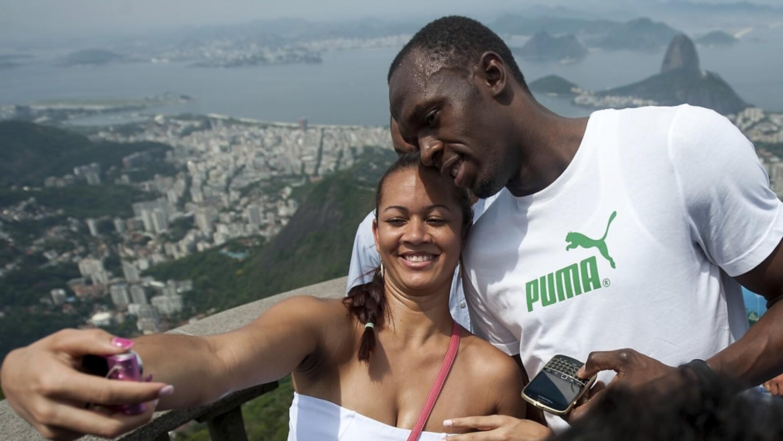 Usain Bolt Brasil Cristo Redentor