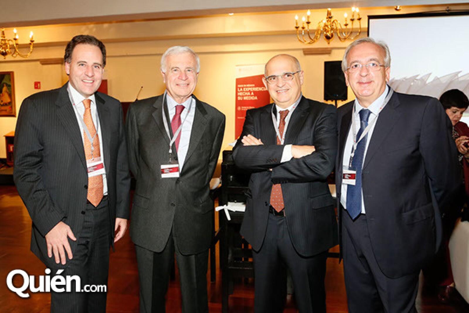 Carlos Cannizzo,Roberto Cannizzo,Raoul Ascari y Salvatore Briano