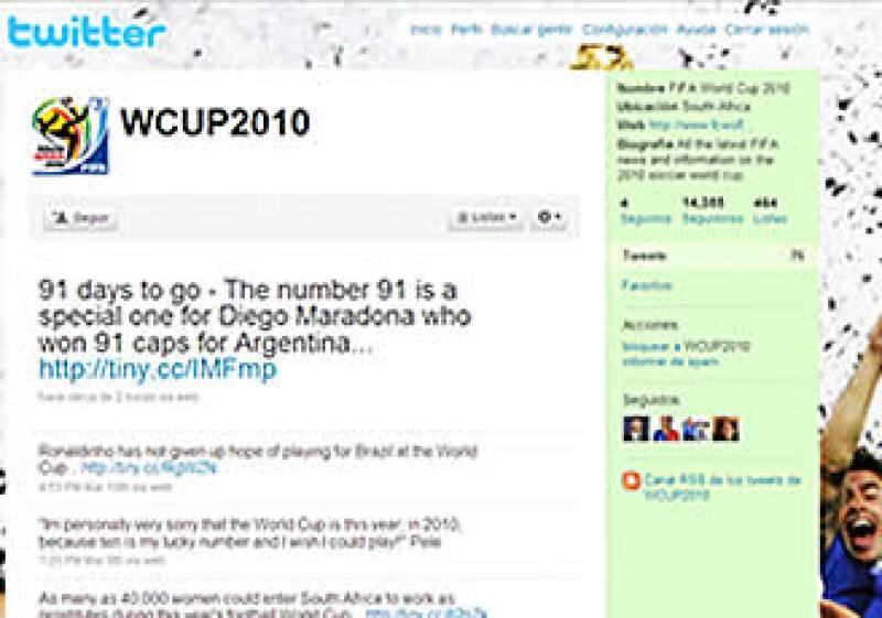 La red de microblogeo, Twitter, está por superar los 10,000 millones de mensajes por mes.   (Foto: Cortesía Twitter)