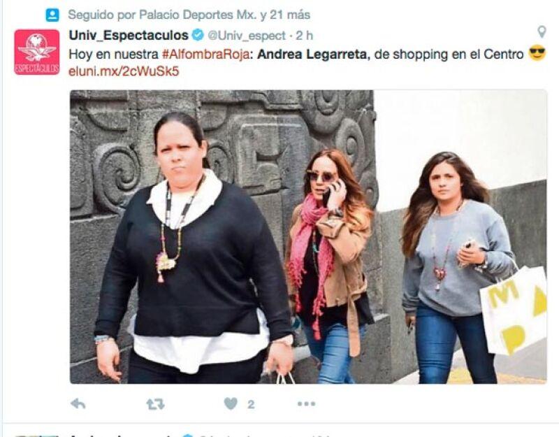 La conductora del programa matutino fue captada en la Ciudad de México acompañada por un par de mujeres que cargaban sus bolsas.