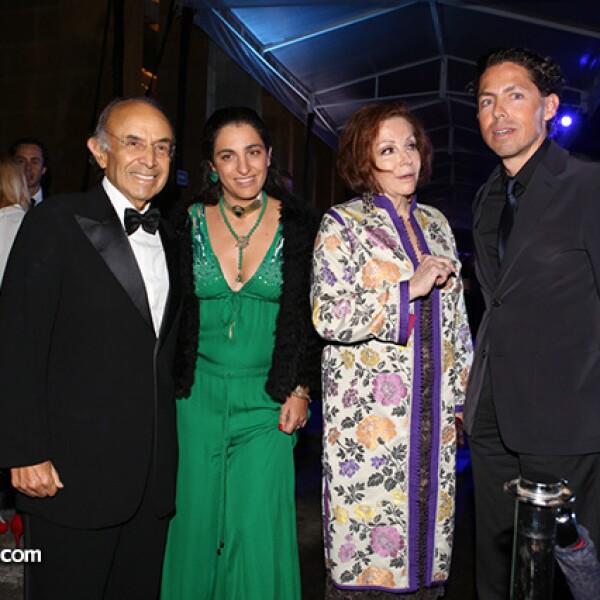 Clemente Serna, Soumaya Slim, María Luisa Serna y Fernando Romero
