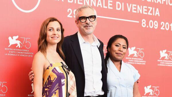 Marina de Tavira, Alfonso Cuarón and Yalitza Aparicio