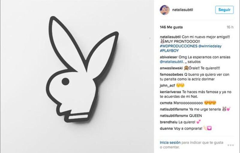 Ayer, Natália confirmó su participación con la revista Playboy.