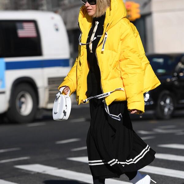 Street Style, Fall Winter 2019, New York Fashion Week, USA - 09 Feb 2019