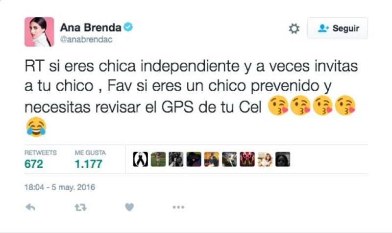 Sin embargo, a pesar de todo, esta fue la reacción de Ana Brenda.
