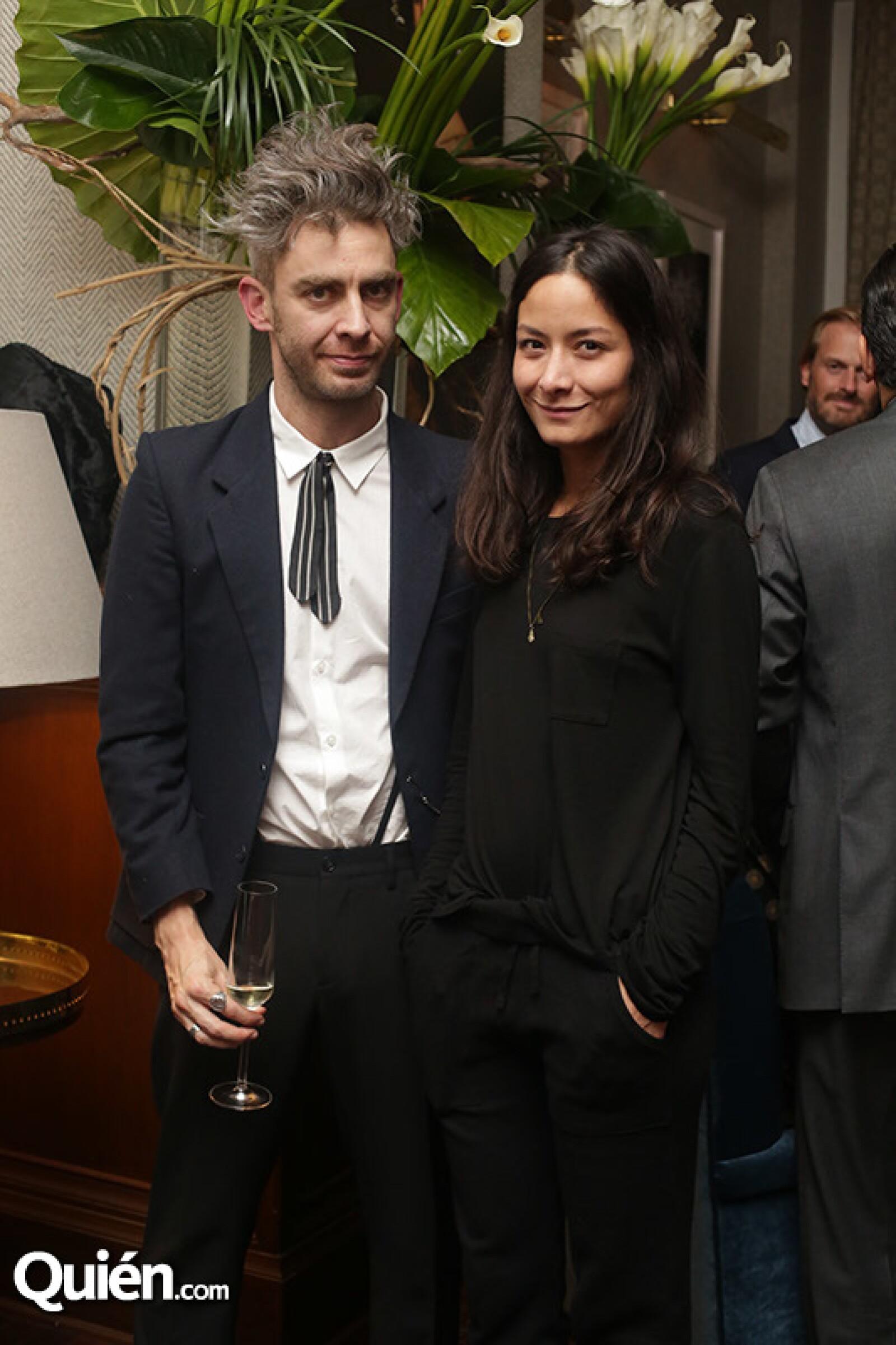 Napoleón Habeica y Pamela Ocampo