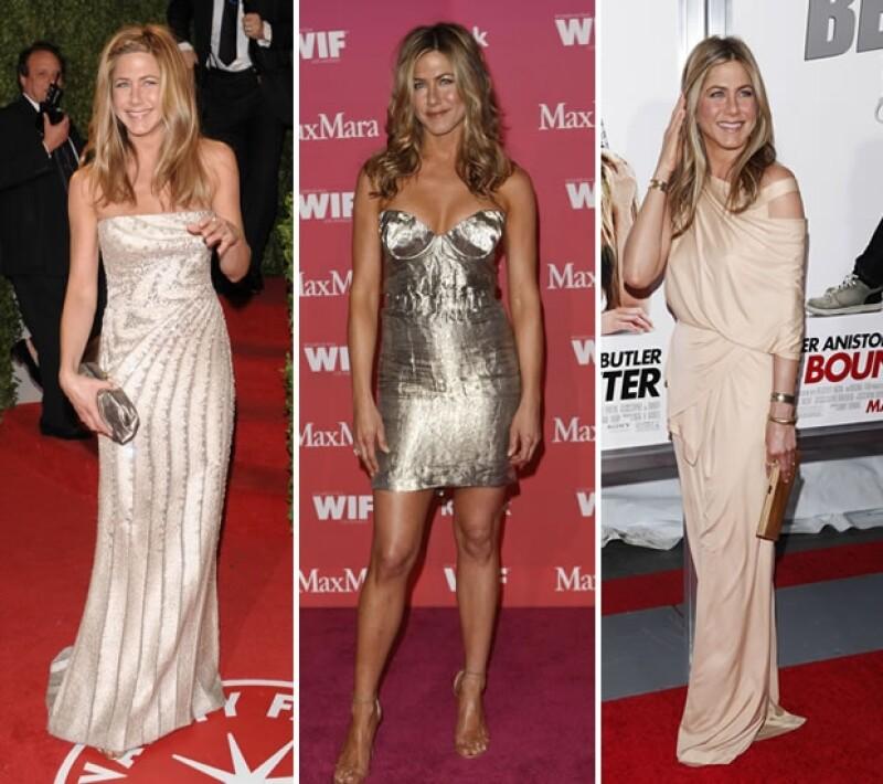 El estilo chic y femenino de Jennifer Aniston dio un giro relajado a partir del inicio de su relación con Justin Theroux.