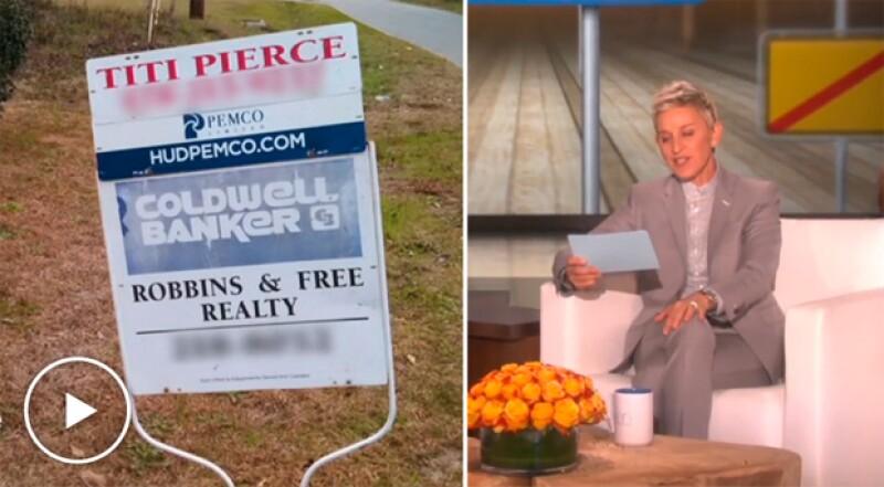 Después de que la famosa conductora se burlara del nombre de una corredora de propiedades, ésta interpuso una demanda al encontrar el comentario de Ellen ofensivo.