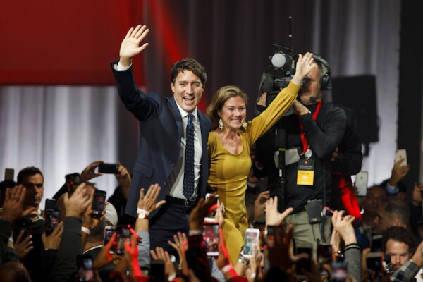 Prime Minister Justin Trudeau Holds Election Night Watch Party In Montreal