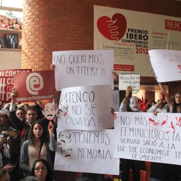 iberoamericana, elecciones, manifestaciones, atenco