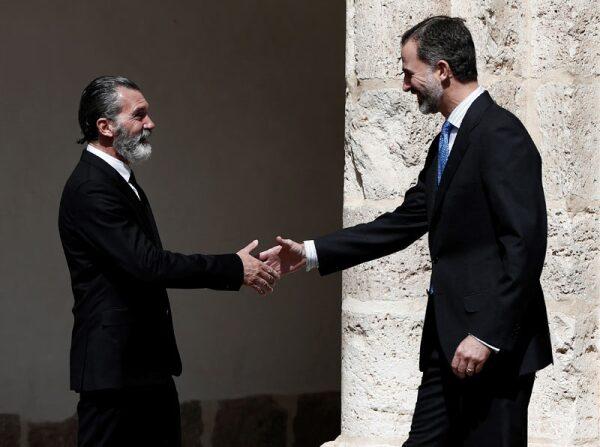 Antonio Banderas y rey Felipe VI