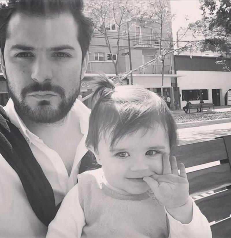 Alejandro Castro y su hija, Nico.