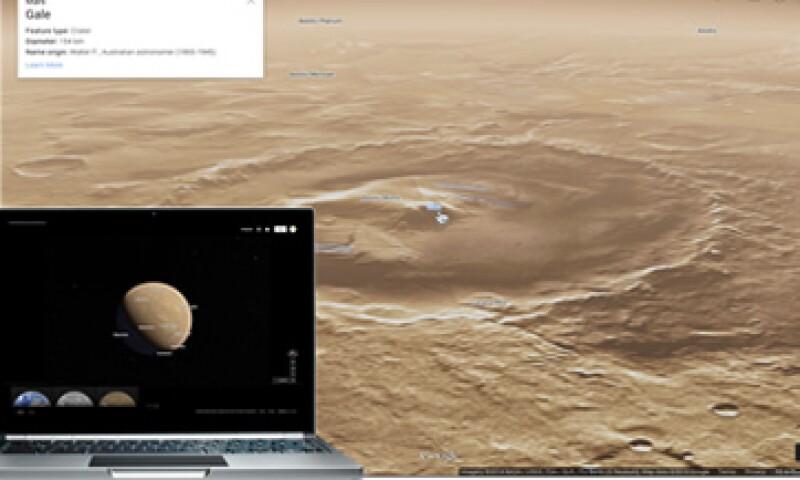 El lanzamiento de esta herramienta coincide con el segundo aniversario de la llegada del vehículo Curiosity a Marte. (Foto: Cortesía Google)