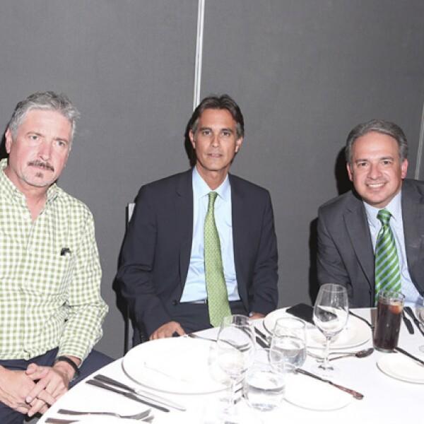 Alberto Canedo,Rafael Rebollar y Paco Garza