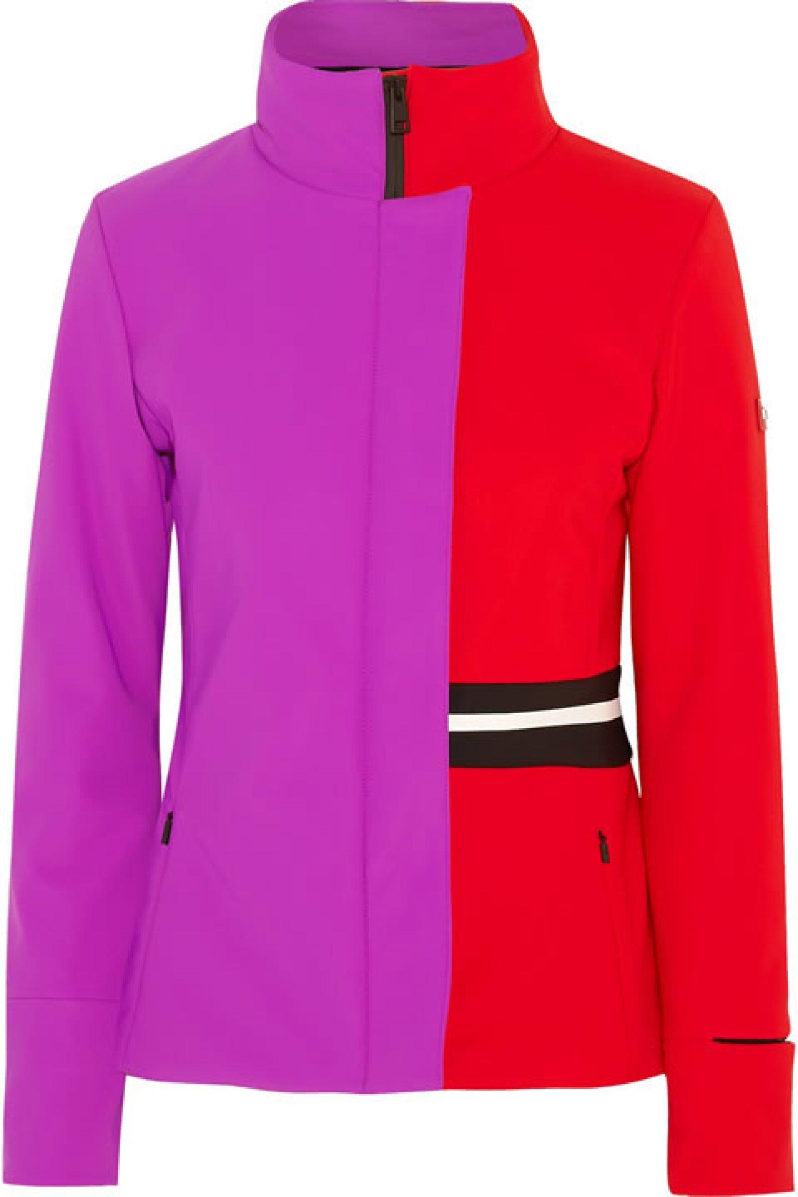 La tendencia color block también está presente en las chamarras de ski como esta de Fendi.
