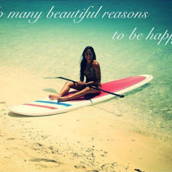 Cancún es uno de los destinos favoritos de Alessandra para practicar surf.