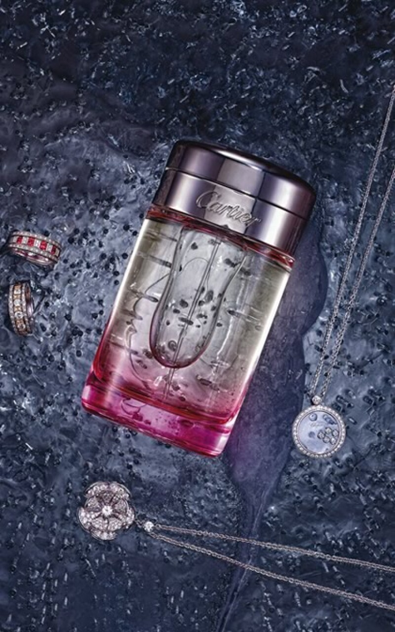 Joyería Damiani, Chopard y Bvulgari. Perfume Cartier.