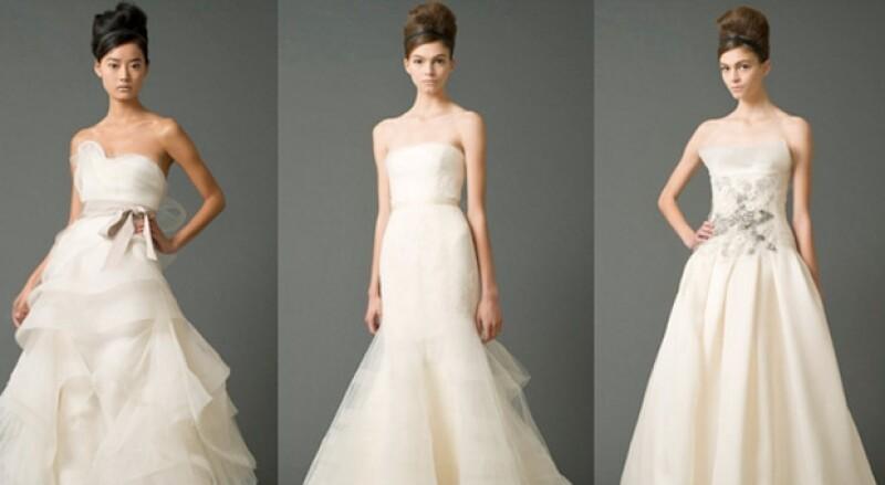 El vestido de Kim podría ser un diseño de Vera Wang.