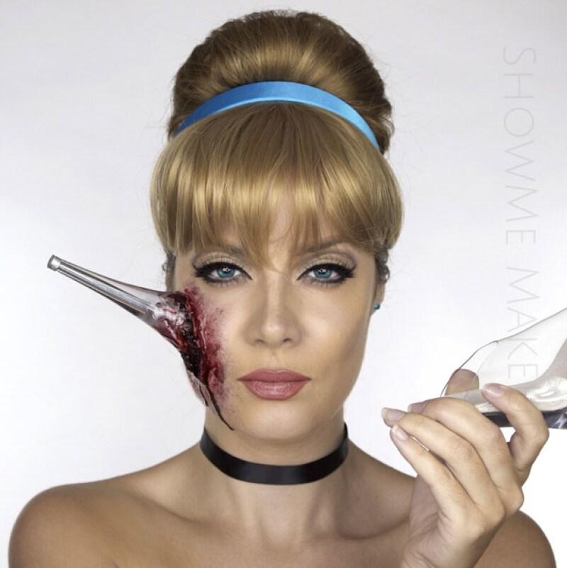 Esta propuesta para Halloween es creación de Shonagh Scott, una make-up artist inglesa, que le dio un giro las dulces protagonistas de los cuentos de hadas.