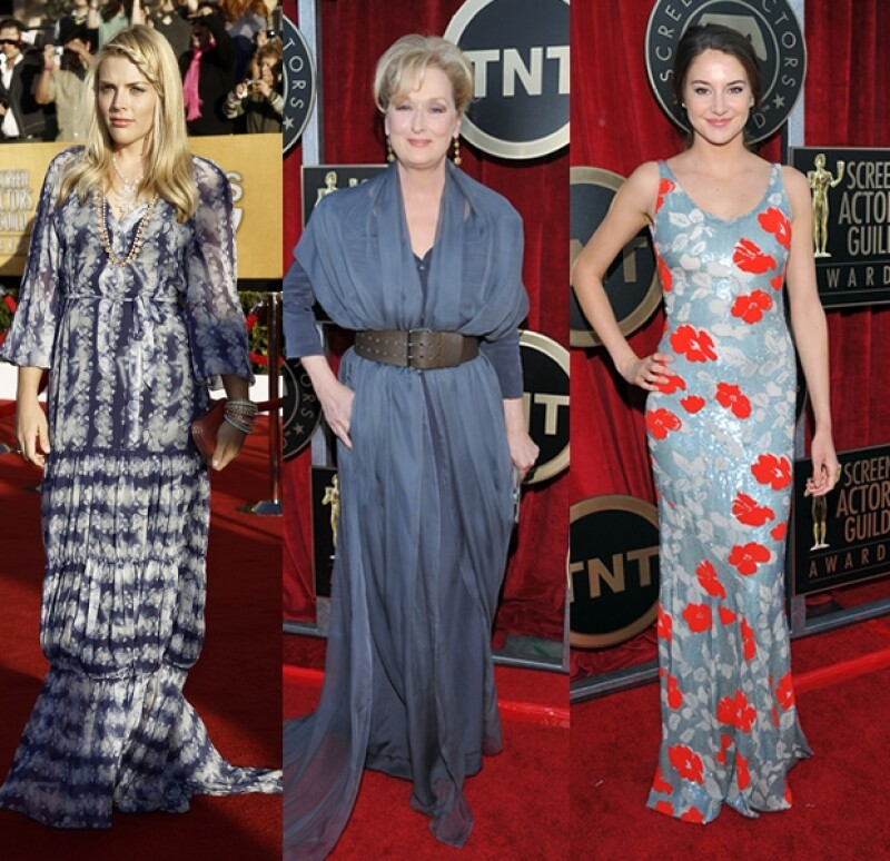 Busy Phillips, Meryl Streep y Shailene Woodley.