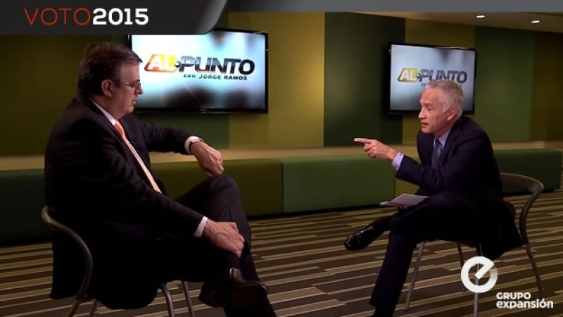Marcelo Ebrard en entrevista con Jorge Ramos