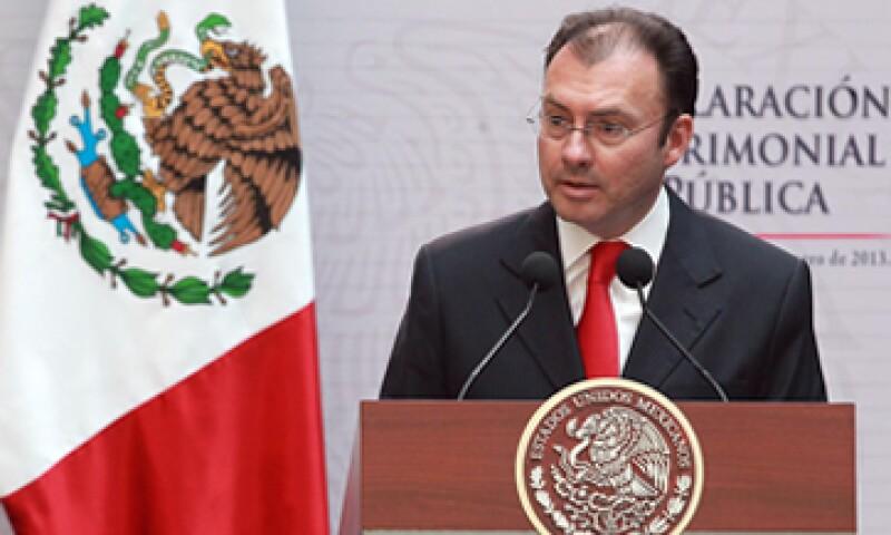 El secretario de Hacienda, Luis Videgaray, negó que la reforma financiera esté en riesgo. (Archivo)