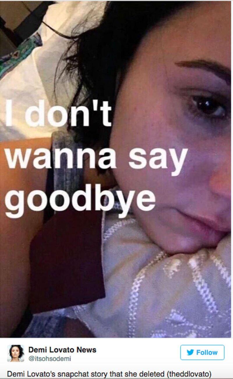 A través de su snapchat, Demi dio a conocer lo difícil que le era despedirse de su bisabuela.