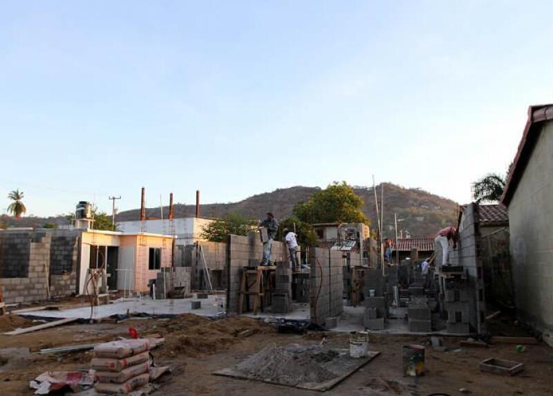 Construcci�n de vivienda en Guerrero