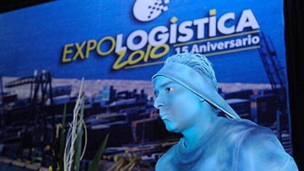 Galardon Tameme de tamaño natural en la Expologística 2010. (Foto: Sergio Montes)