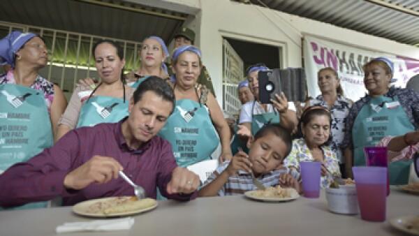 El presidente Enrique Peña Nieto presentó en 2013 la Cruzada Nacional contra el Hambre. (Foto: Cuartoscuro/Archivo )