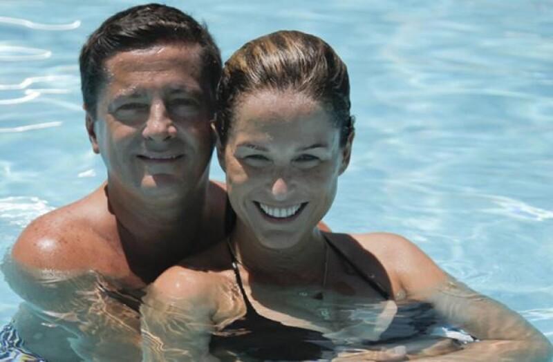 Alejandro y Xuxú en agosto pasado durante unas vacaciones en Cancún.