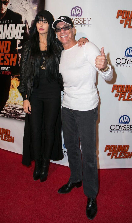 Jean Claude Van Damme con su hija, en una premiere hace varios años.
