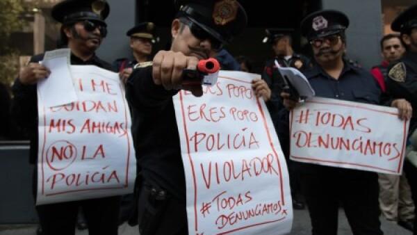 Policias Violencia Protesta