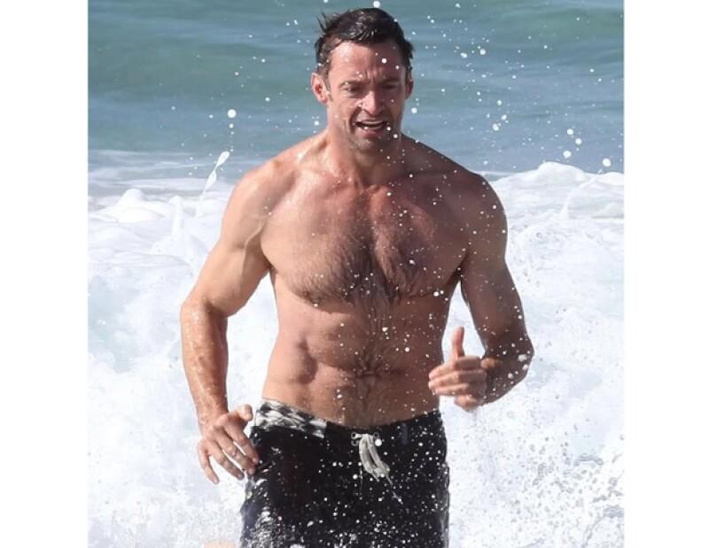 Hugh Jackman se ha esforzardo para parecer en realidad Wolverine.