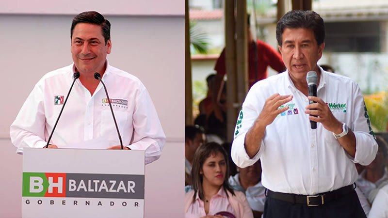 """Los candidatos a gobernador de Tamaulipas (der) y Veracruz (izq) han """"pintado"""" su raya de los mandatarios en las respectivas entidades que buscan gobernar."""
