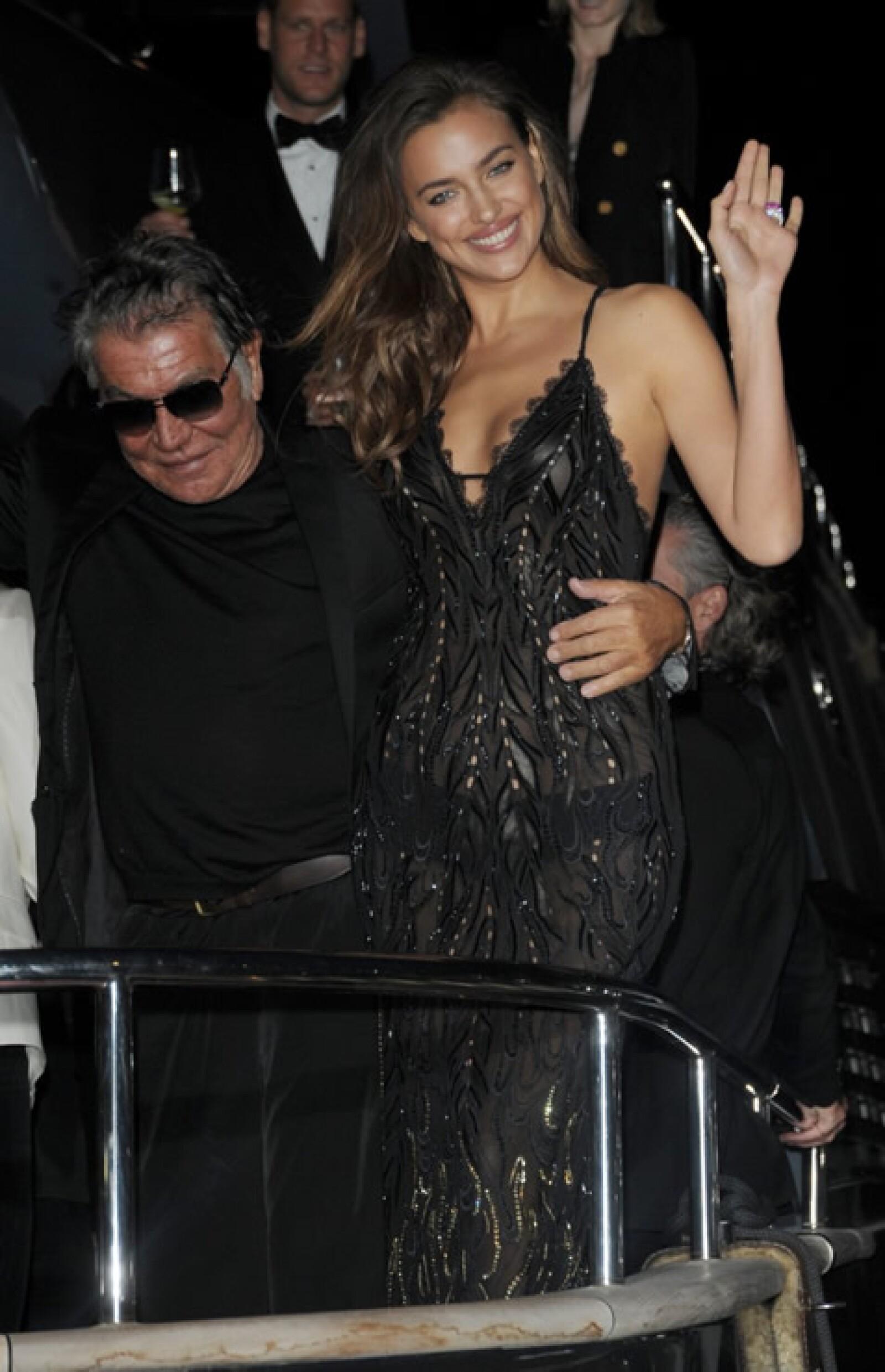 Roberto Cavalli e Irina Shayk