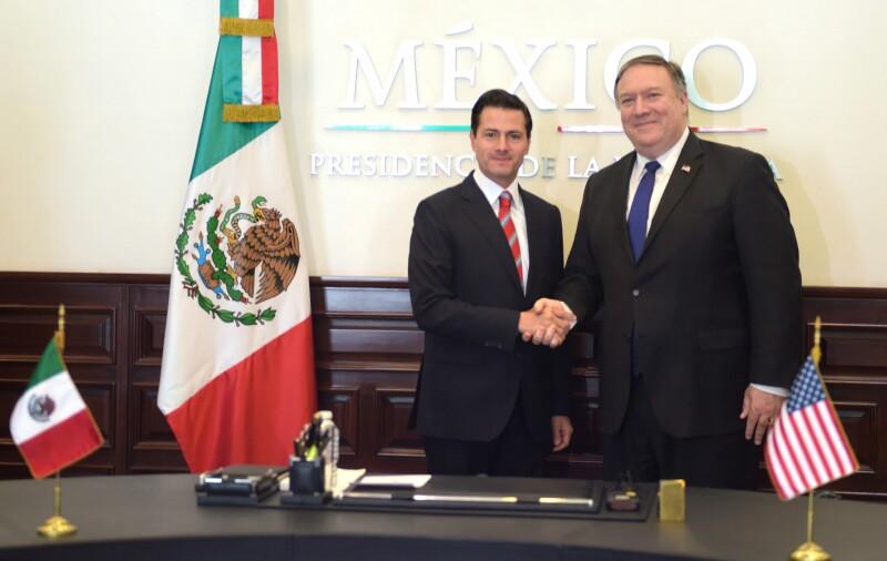 Peña Nieto y Mike Pompeo